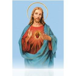 Sagrado Corazón de Jesús (fondo azul)