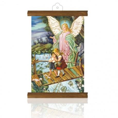 PM14 ángel guarda puente ORO MADERA