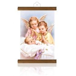 PM25 mi bautismo (dos ángeles) ORO MADERA