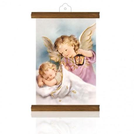 PM26 mi bautismo (ángel farol) ORO MADERA