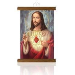 PM39 sagrado corazón de jesús ORO MADERA