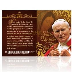 LC55 El Santo Rosario y Juan Pablo II PLATA