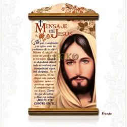 CC76M Mensaje de Jesús [frente madera]