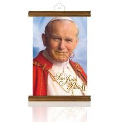 PM43 Beato Juan Pablo II ORO MADERA