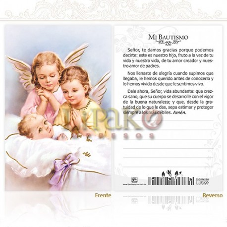 5OPM25H Bautismo (dos ángeles) ORO