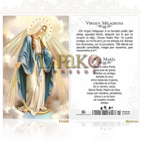 5OPM10H Virgen Milagrosa ORO