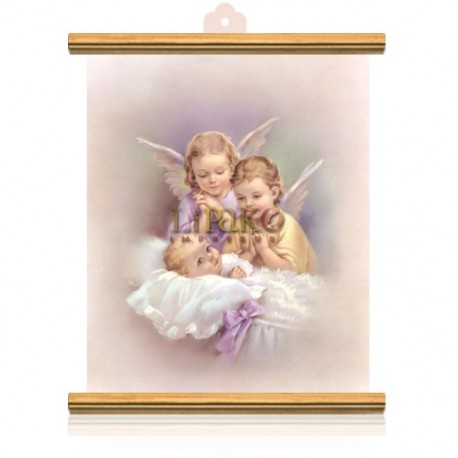 CME38W Dos ángeles ORO