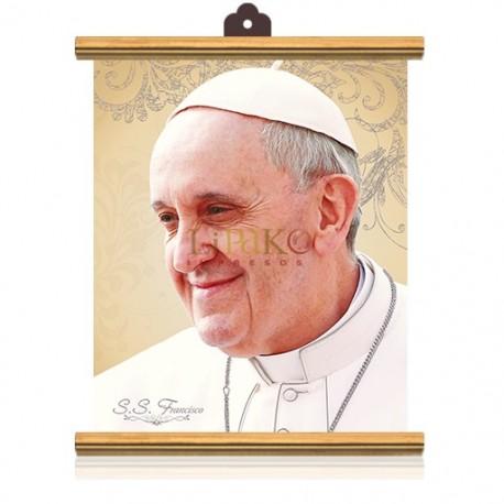 CME50W Papa Francisco (rostro) PLATA