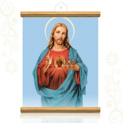 Sagrado Corazón (fonfo azul)