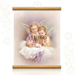 CMA38W Dos ángeles ORO