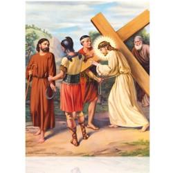 V05C V Jesús ayudado por Simón de Cirene [20x25 cm]