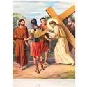 V Jesús ayudado por Simón de Cirene [20x25 cm]