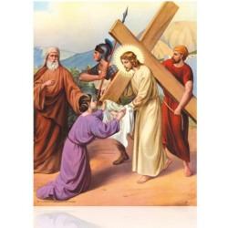 V06C VI La verónica limpia el rostro de Jesús [20x25 cm]