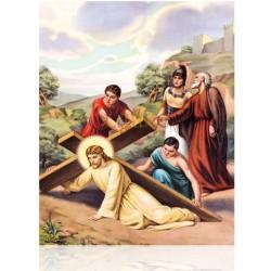 V07C VII Jesús cae por segunda vez [20x25 cm]