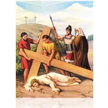 V09C IX Jesús cae la tercera vez [20x25 cm]