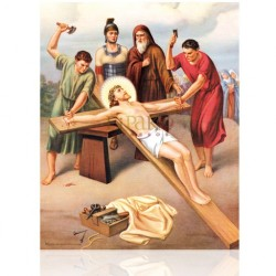 Estación XI (Jesús clavado en la cruz)