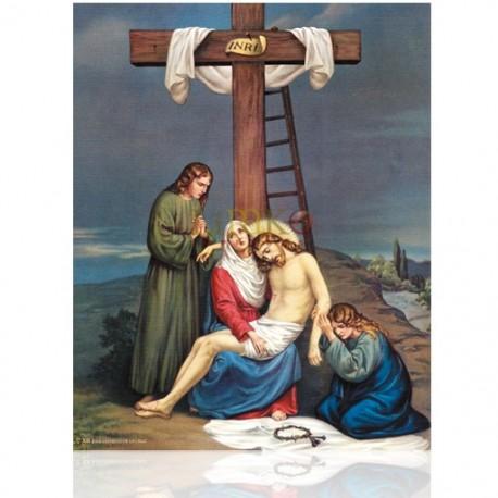V13C XIII Jesús depuesto en la cruz [20x25 cm]