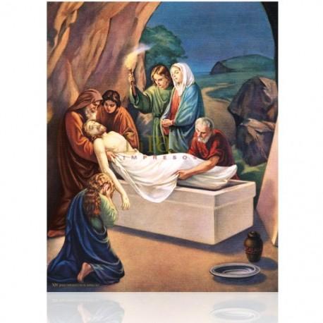 V14C XIV Jesús depuesto en el sepulcro [20x25 cm]