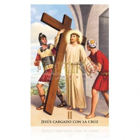 Estación II (Jesús cargando la cruz)