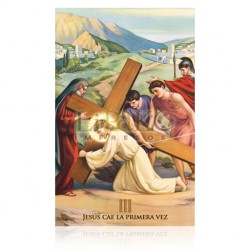 VP3C III Jesús cae por primera vez [postal]
