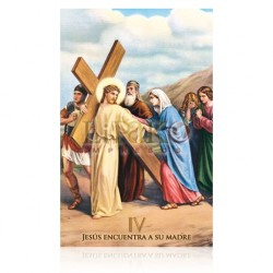 Estación IV (Jesús encuentra a su madre) [postal]