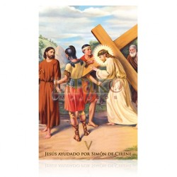 VP5C V Jesús ayudado por Simón de Cirene [postal]