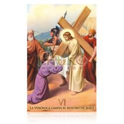 VI La verónica limpia el rostro de Jesús [postal]