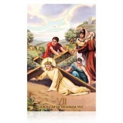 VP7C VII Jesús cae la segunda vez [postal]