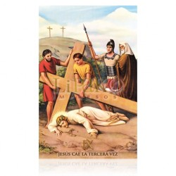 VP9C IX Jesús cae la tercera vez [postal]