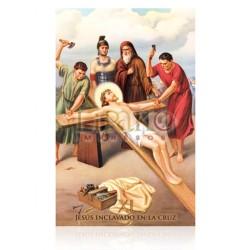 Estación XI  (Jesús enclavado en la cruz)