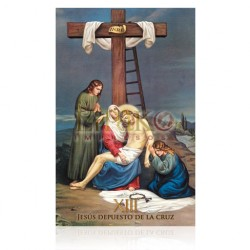 VP13C XIII Jesús depuesto en la cruz [postal]