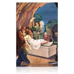 Estación XIV (Jesús depuesto en la cruz)