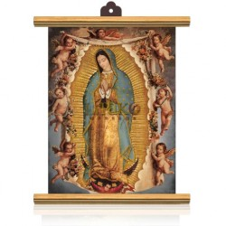 CME54 M V. Guadalupe Angeles ORO APERLADO MADERA